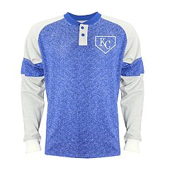 Men's Stitches Kansas City Royals Raglan Henley