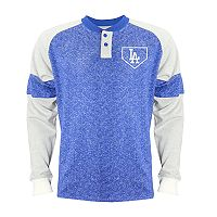 Men's Stitches Los Angeles Dodgers Raglan Henley