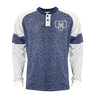 Men's Stitches New York Yankees Raglan Henley