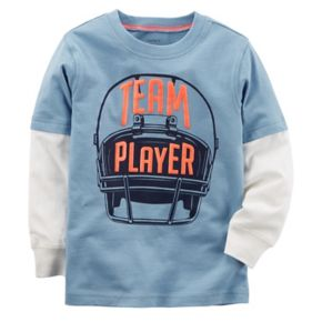 "Toddler Boy Carter's ""Team Player"" Football Mock Layer Graphic Tee"