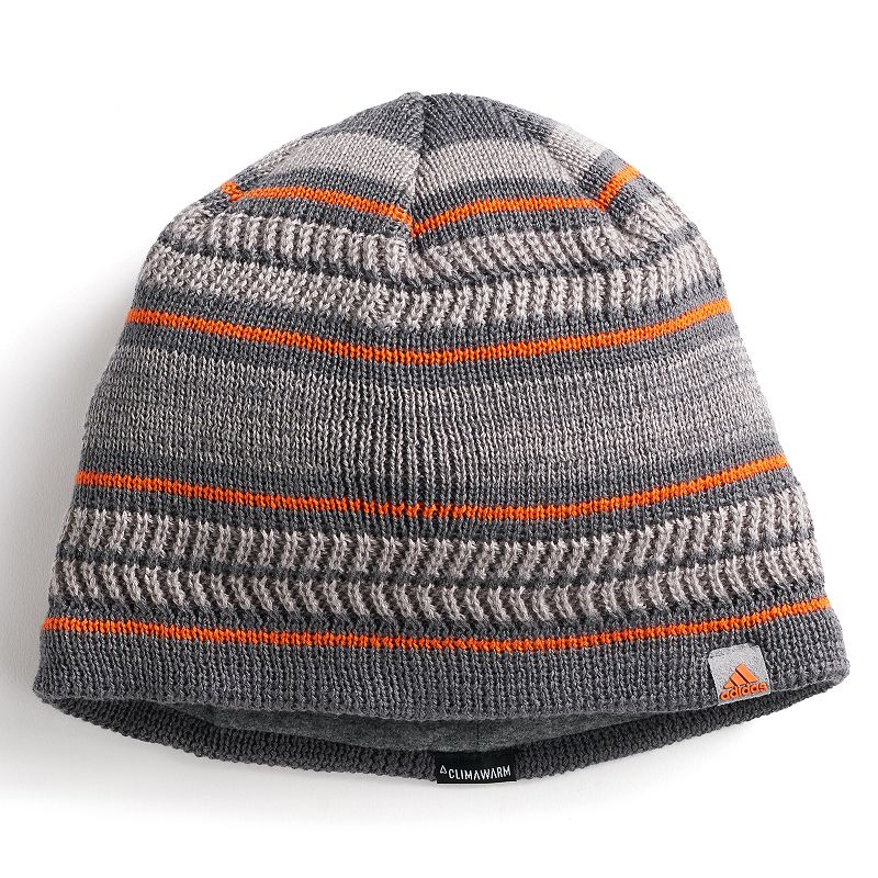Men's Adidas Optimal Beanie, Grey Optimize you sense of style with this men's Adidas beanie. Climawarm fabric traps in heat to keep you warm Fully lined FIT & Sizing One size fits most Fabric & Care Acrylic, polyester, spandex Hand wash Imported Size: Onesize. Color: Grey. Gender: Male. Age Group: Adult.
