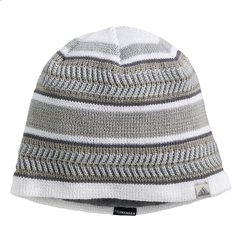 Men's Adidas Optimal Beanie, White Optimize you sense of style with this men's Adidas beanie. Climawarm fabric traps in heat to keep you warm Fully lined FIT & Sizing One size fits most Fabric & Care Acrylic, polyester, spandex Hand wash Imported Size: Onesize. Color: White. Gender: Male. Age Group: Adult.
