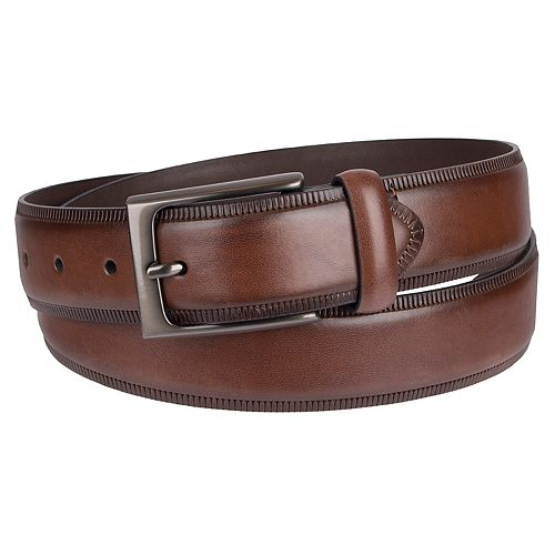 Men's Croft & Barrow® Embossed-Edge Dress Belt