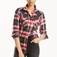 Women's Levi's® Tailored Plaid Shirt