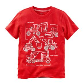 Toddler Boy Carter's Construction Trucks Diagram Graphic Tee