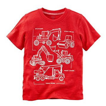 Toddler Boy Carter's Construction Trucks Diagram Graphic Tee
