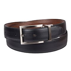 Men's Croft & Barrow® Reversible Double-Stitched Dress Belt