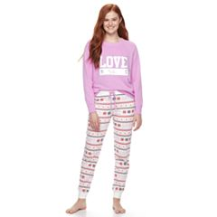 Juniors' SO® Knit Raglan Jogger Set