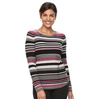 Women's Croft & Barrow®Textured Crewneck Sweater