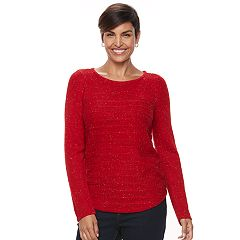 Women's Croft & Barrow® Curved Hem Sweater