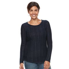 Women's Croft & Barrow® Lurex Ribbed Sweater