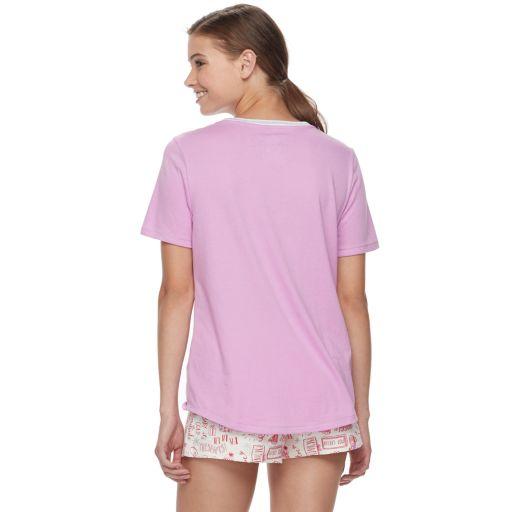 Juniors' SO® Pajamas: Flannel Pants, Shorts & Short Sleeve Top 3-Piece PJ Set