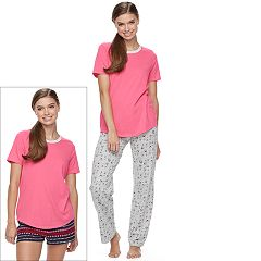 Juniors' SO® Pajamas: Knit Pants, Shorts & Short Sleeve Top 3-Piece PJ Set