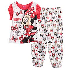Disney's Minnie Mouse Toddler Girl 'Bows' Top & Pants Pajama Set