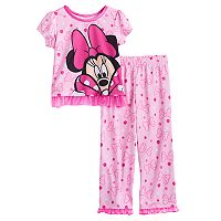 Disney's Minnie Mouse Toddler Girl 2 pc Top & Pants Pajama Set
