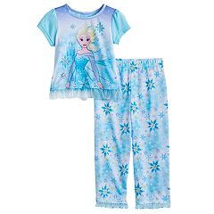 Disney's Frozen Toddler Girl 2 pc Elsa Top & Pants Pajama Set