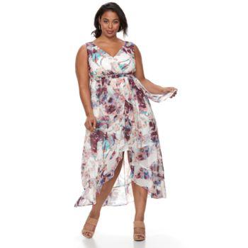 Plus Size Chaya Floral Maxi Wrap Dress