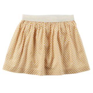 Girls 4-8 Carter's Floral Metallic Skirt