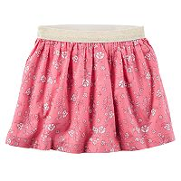 Girls 4-8 Carter's Floral Metallic Skirt