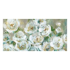 Loose Peonies Panel Canvas Wall Art