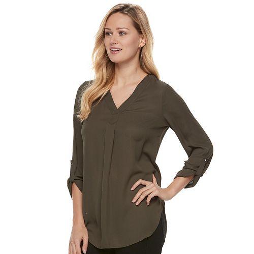 Women's Apt. 9® Roll-Tab Chiffon Tunic Top