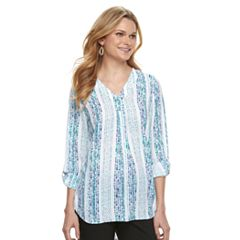 Women's Apt. 9® Roll-Tab Chiffon Tunic Top