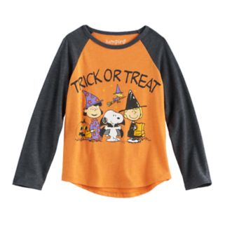 """Toddler Girl Peanuts Snoopy, Woodstock, Lucy van Pelt & Patty """"Trick or Treat"""" Graphic Tee by Jumping Beans®"""