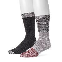 Men's MUK LUKS 2-pack Yarn Boot Socks
