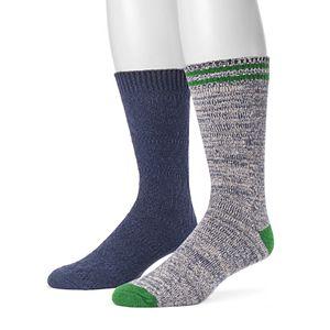 Men's MUK LUKS 2-pack Fluffy Yarn Boot Socks