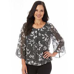 Women's Apt. 9® Chiffon Bell Sleeve Top
