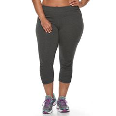 Plus Size Tek Gear® Ruched Capri Leggings