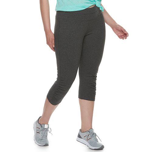 Plus Size Tek Gear® Ruched Capri Leggings