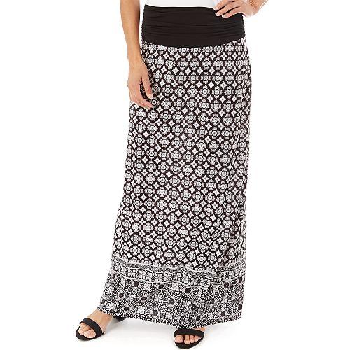 Women's Apt. 9® Print Column Maxi Skirt
