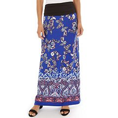 a410e48873f Women s Apt. 9® Print Column Maxi Skirt. Black Navy Neutral Stripe ...