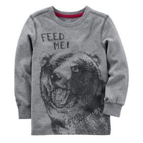 "Toddler Boy Carter's Bear ""Feed Me"" Long Sleeve Top"