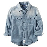Toddler Boy Carter's Chambray Button Front Shirt