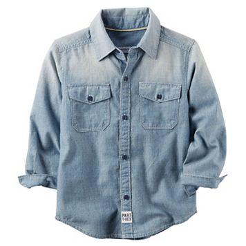 Toddler Boy Carter's Chambray Button Front Shirt
