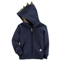 Toddler Boy Carter's Dinosaur 3D Spikes Zip Hoodie
