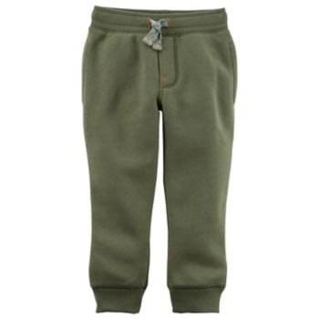 Toddler Boy Carter's Fleece Pull On Green Jogger Pants