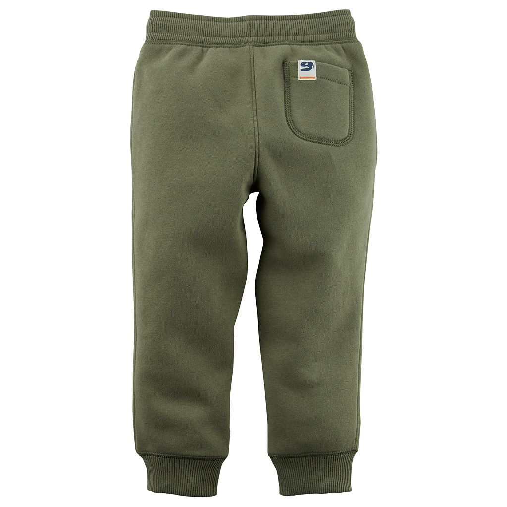 Toddler Boy Carter's Fleece Pull On Green Jogger Pants