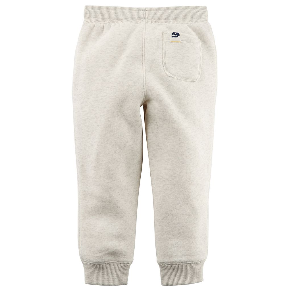 Toddler Boy Carter's Fleece Pull On Ivory Jogger Pants