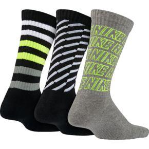 Boys Nike 3-Pack Performance Crew Socks
