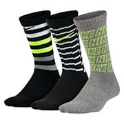 Boys Nike 3-Pack Performance Crew Socks