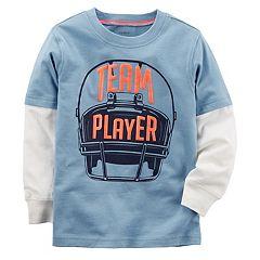 Baby Boy Carter's 'Team Player' Football Helmet Mock Layer Tee