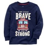 "Baby Boy Carter's ""Fire Chief Brave and Strong"" Tee"