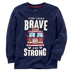 Baby Boy Carter's 'Fire Chief Brave and Strong' Tee