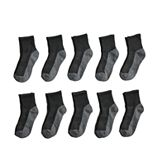 Boys Tek Gear 10-Pack Lightweight Quarter-Crew Performance Socks