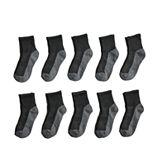 Boys' Tek Gear® 10-Pack Lightweight Quarter-Crew Performance Socks