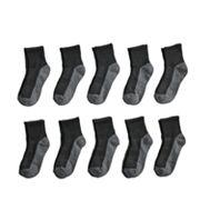 Boys Tek Gear 10-Pack Quarter-Crew Socks