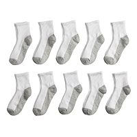 Boys Tek Gear 10-Pack Quarter-Crew Socks
